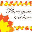 Fall leaves text border — Stock Vector