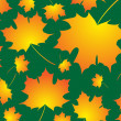 Halloween fall leaves background — Stock Vector