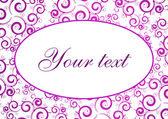 Pink text card — Stock Vector
