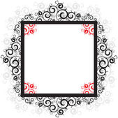 Lace frame — Stock Vector