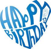 祝你生日快乐的心 — 图库矢量图片