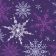 Stock Vector: Purple snowflakes background