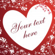 Royalty-Free Stock Vectorielle: White heart on red background card