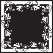 Stock Vector: Black & white floral background
