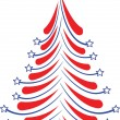 Stock Vector: Stars & stripes xmas tree