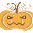 Royalty-Free Stock Vector: Halloween pumpkin