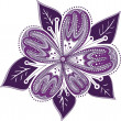 Stock Vector: Ornament purple flower
