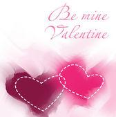 Worden mijn valentijn kaart — Stockvector