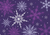 Purple snowflakes background — Stock Vector