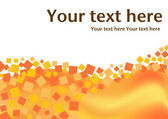 Orange squares background with text — Stock Vector