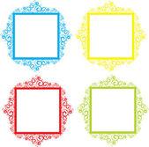 Koronki ramki z jasnych kolorach — Wektor stockowy