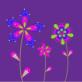Tři květy — Stock vektor