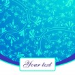 Stock Vector: Blue lace background