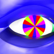 Futuristic eye — Stock Photo