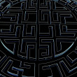 Foto Stock: Round labyrinth