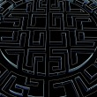 Foto de Stock  : Round labyrinth