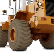 Bulldozer on wheels - Stock Photo