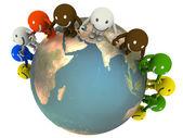 Emoticonos y globo — Foto de Stock