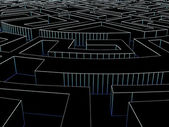 Runde labyrinth — Stockfoto