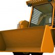 Bulldozer on wheels — Stock Photo