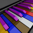 Stock Photo: Grand piano keys