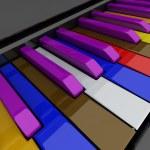 Grand piano keys — Stock Photo