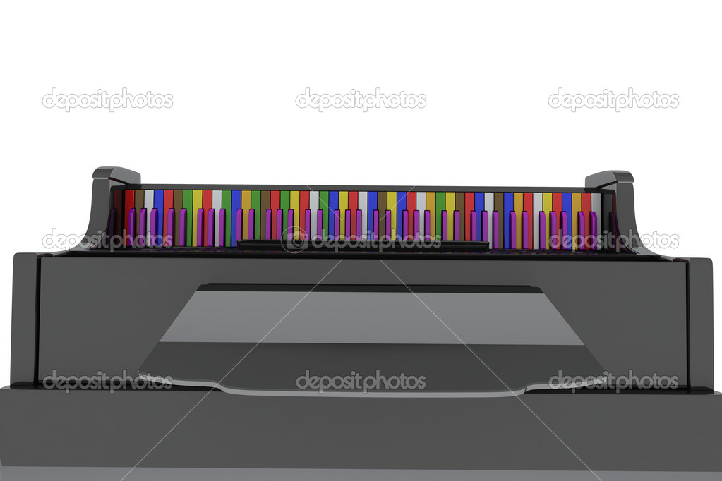 Black Grand Pianos Black Grand Piano With Color