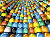 Muur van mozaïek — Stockfoto