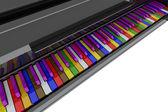 颜色的钢琴键 — 图库照片