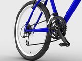 Blue bike — Stock Photo