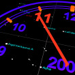 Stock Photo: Blue New years space Speedometer