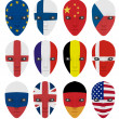 Stock Photo: Mask painted with flag