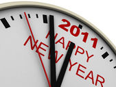 New Year's clock — Stockfoto