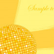 Vector de stock : Abstract yellow background