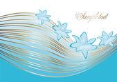 Lily en lijnen — Stockvector