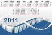 Calendario 2011 — Vector de stock