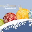 Merry Christmas ball — Vector de stock #3824290