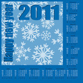 Happy new year. Calendar 2011 — Stock Vector