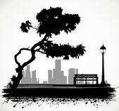 Het park. — Stockvector