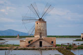 Windmill in a Salt Mine near Trapani, Sicily — Stock Photo