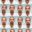 Youg Man Performing Various Expressions with his Face - Stok fotoraf