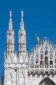 米兰大教堂的外观细节 — 图库照片