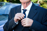 Senior Man with Suit and Necktie at Celebration Event — Stock Photo