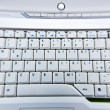 Stock Photo: Warped View of Laptop Keyboard