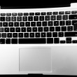 Laptop Keyboard Black and White — Foto de Stock