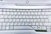 Warped View of a Laptop Keyboard — Stock Photo