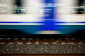 Motion Blur Effect of Railroad Car in the Station — Stock Photo