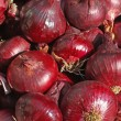 Stock Photo: Harvest of red onion