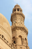 Minaret of ancient mosque in Old Cairo. — Stock Photo