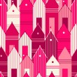 Pink houses. — Stock Vector